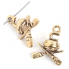 Pendant-Curling 7mm With Broom Antique Gold
